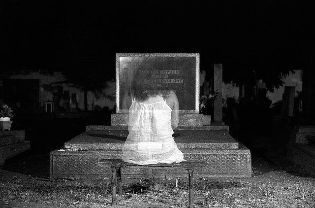 Ghost, Black And White, Dark, Horror, Halloween