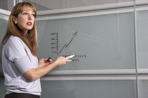 Enseignant, Femmes, Collège, Étudiant