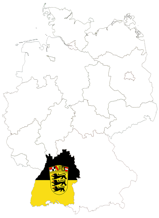 Map Of Germany Regions.Germany Map Regions Free Image On Pixabay