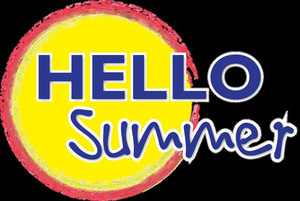free vector graphic blog hello summer sun bright