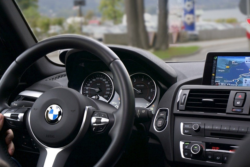 Car, Driving, Route, Interior, Navigation, Tachometer