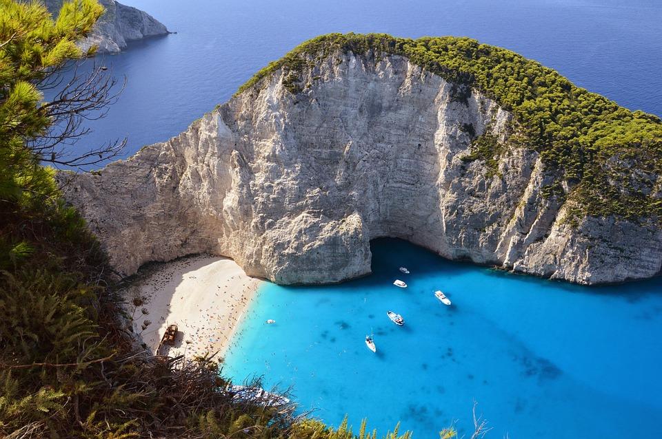 Zakynthos, Beach, Island, Bay, Lagoon, Sea, Greece