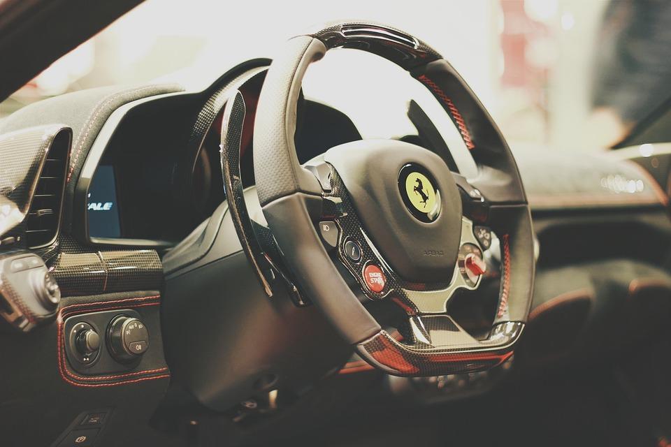 Carro, Carro Esporte, Volante, Ferrari