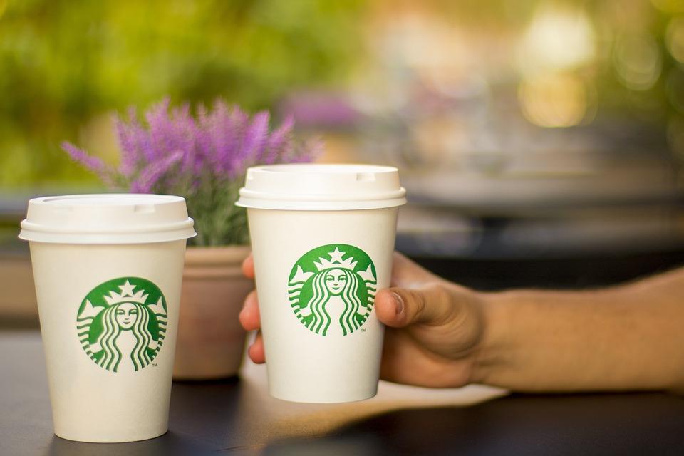 コーヒー, カフェ, 飲酒, ボケ, ライフスタイル, スターバックス, ドリンク, コーヒー ショップ