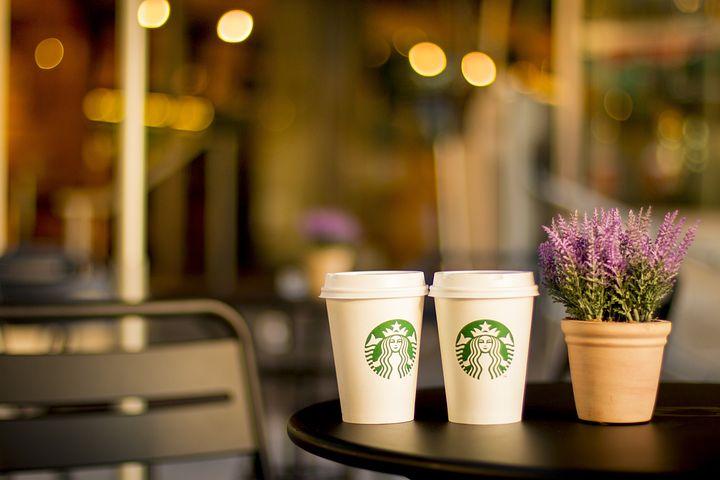 スターバックス, コーヒー, カップ, カフェ, コーヒー ショップ, 喫茶店