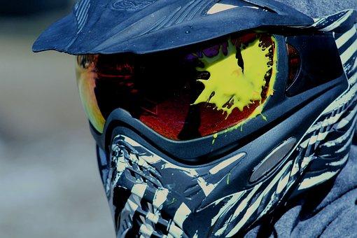 Paintball, Sport, Equipment, Mask, Paint