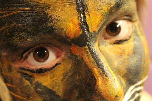 Cerrar, Pintura, Pintura De La Cara