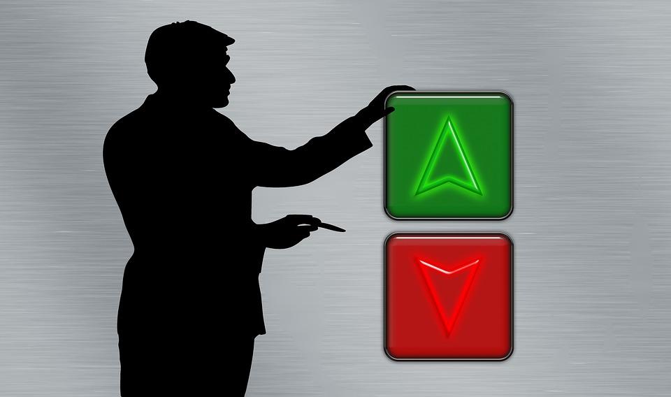 Presentation Button Person Silhouette On