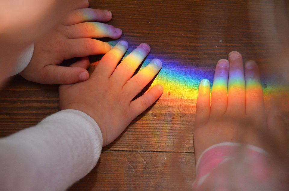 hands rainbow children the  u00b7 free photo on pixabay