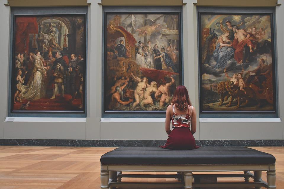 Mujer, Arte, Creativa, Relajación, Niña, Galería