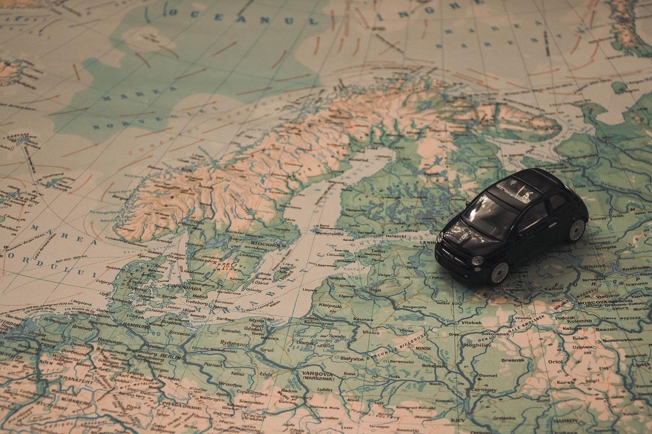 Holidays Car Map - Free photo on Pixabay