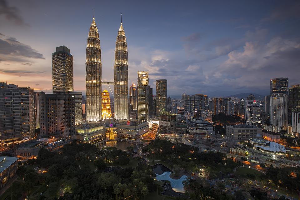 Kuala Lumpur at sunset - family holiday in Malaysia