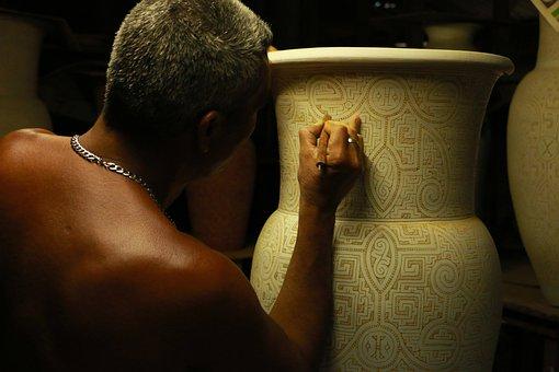 Homem, Mão, Design, Artista, Cerâmica