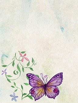 Vintage Scrapbook Watercolor Backgrou