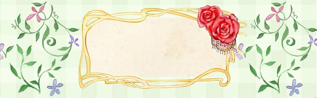 Flower, Rose, Sign Banner, Web, Internet