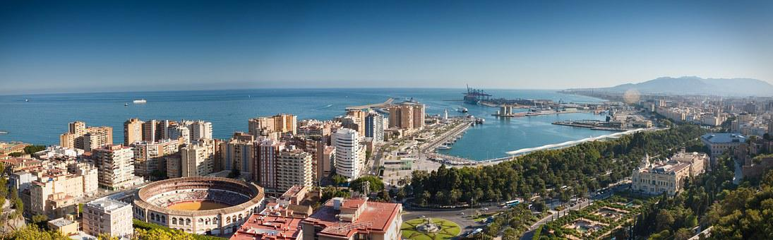 Sea Sky Port Summer Harbour Spain City Mal