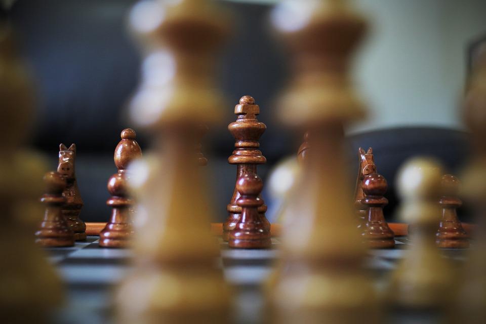 Gry, King, Koń, Szachy, Bitwa Pod, Strategii, Taktyka