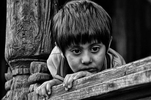 Indiana, Criança, Preto E Branco, Olhos