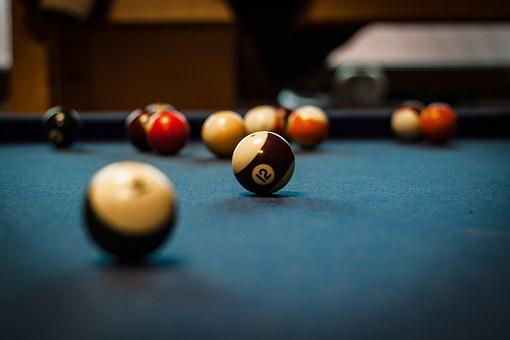 Pool Table, Green, Flat, Pool, Sport