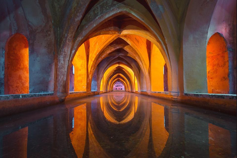Acqua, Architettura, Colorato, Riflessione, Chiesa