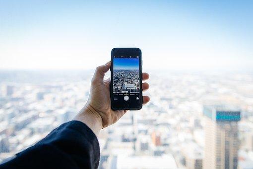 City, Street, Rooftop, Apple, Camera