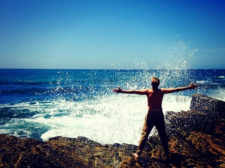 Sea, Nature, Man, Person, Beach