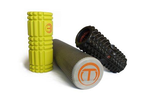 Übung, Workout, Yoga, Schaumstoffrolle