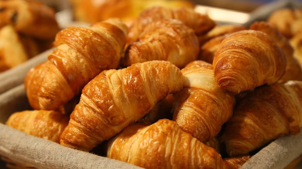 Pan, Croissant, Por La Mañana, Hojaldre, Panadería