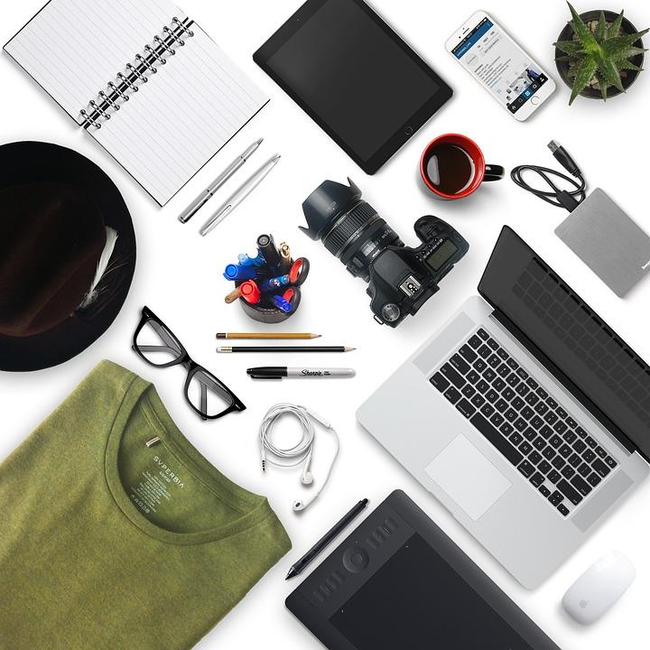 Kamera, Iphone, Macbook Pro, Macbook, Mock Up, Geschäft