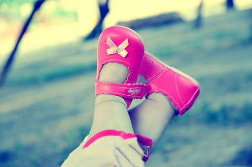 Playing, Shoes, Happy, Baby, Daughter
