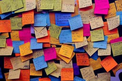それのメモを投稿します, 付箋紙, メモ, 掲示板, 通信, 添付
