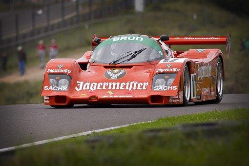 voiture de course piste de course red
