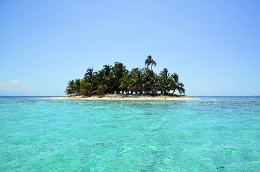 Island Scenery Sea Landscape Palm Tre