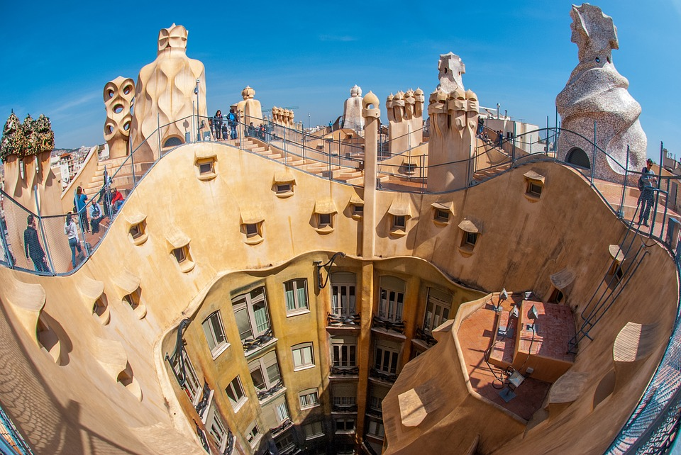 Gaudi, Barcelona, Spain, Architecture, Travel, Outdoors
