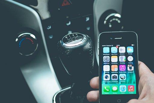 Smartphone Auto Mobil Telefon Fahrzeug Tec
