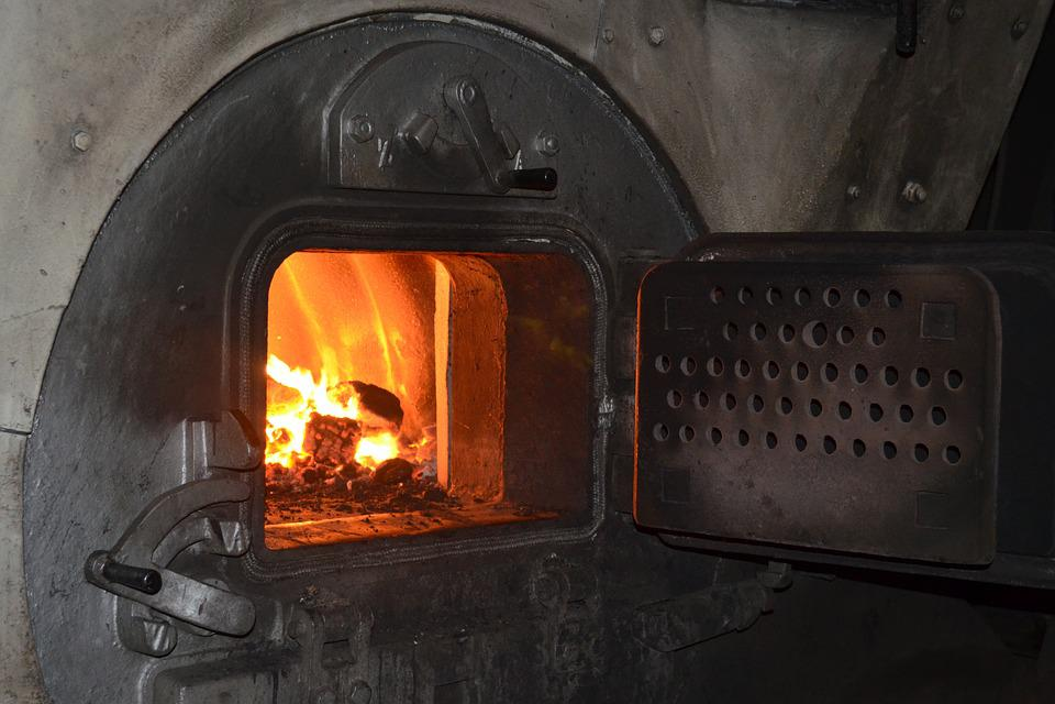 Fire, Steamboat, Stoker, Boiler Room, Antique, Maritime