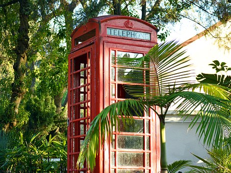 British Red Telephone Booth Box Gibra