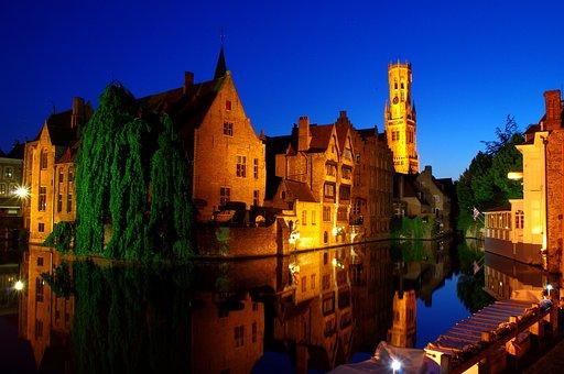Bruges, Night, Historic Center