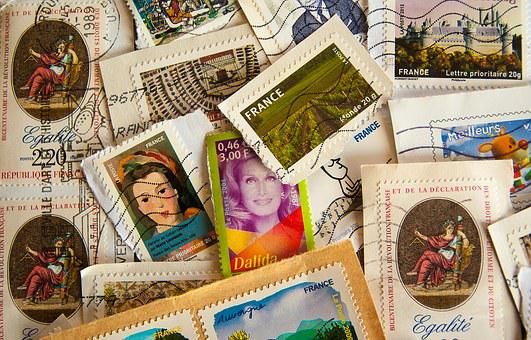 France, Stamps, Philately, Post, Mail