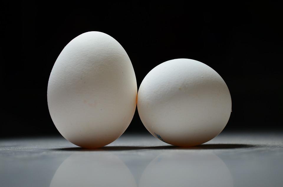 Jaja, Jajko, Wielkanoc, Biały, Kurcząt, Fokus, Bw