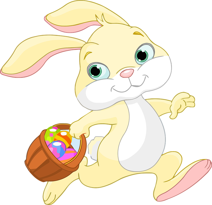Easter, Bunny, Rabbit, Animal, Anthropomorphic, Basket