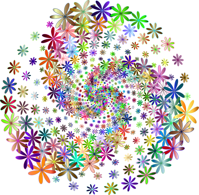 floral flowers colorful 183 free vector graphic on pixabay