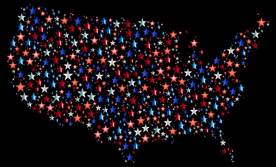 Free Vector Graphic America United States Usa Map Free Image - Stars map from us
