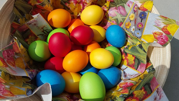 Easter Eggs, Easter, Colorful, Color