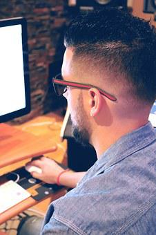 Man Using Computer, Using Computer