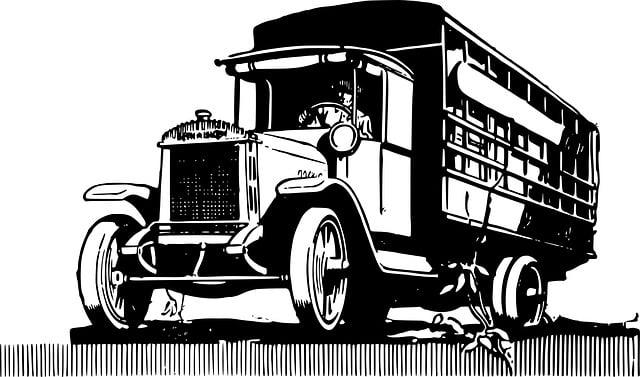 Free Illustration Truck Vintage Automobile Clip Free