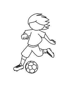 Junge, Fußball, Spielen, Kinder