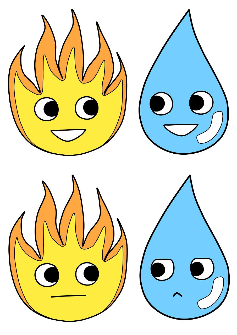 Рисунок огонь и вода