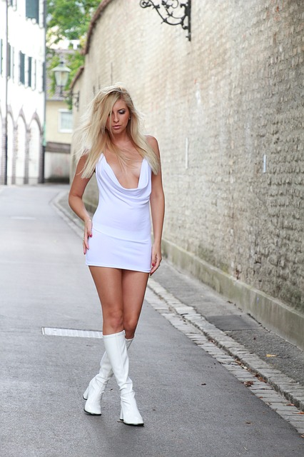 русские блондинки в мини фото