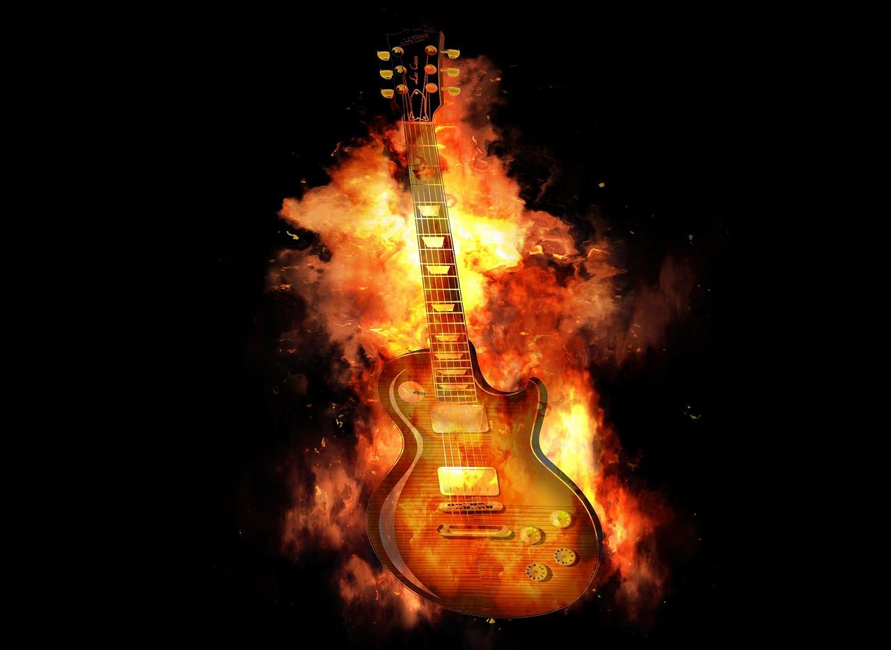 Гитара в огне картинки